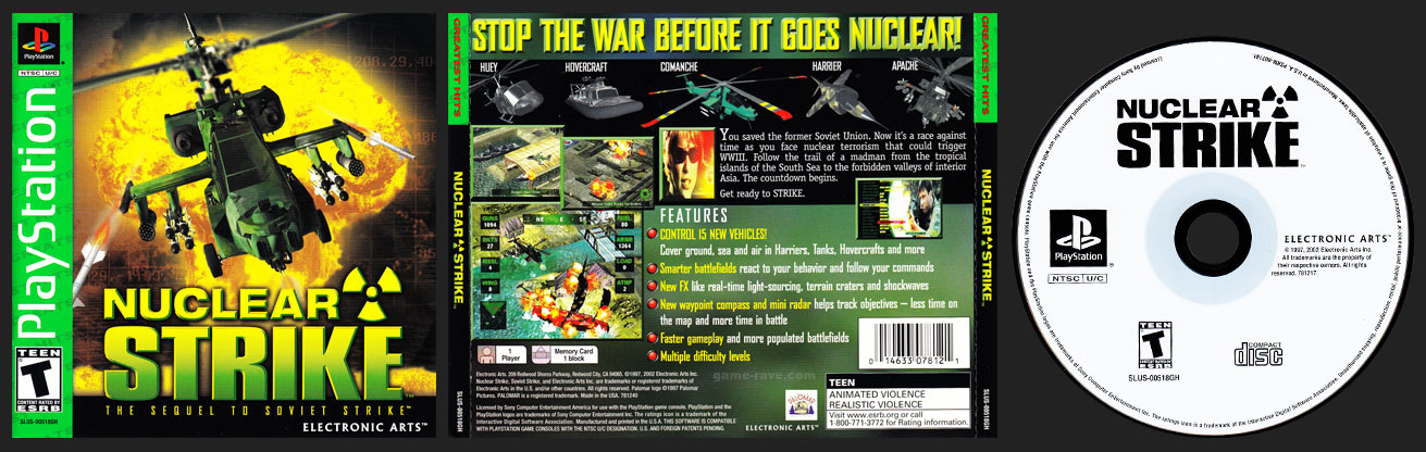 PSX PlayStation Nuclear Strike Greatest Hits Retail Release