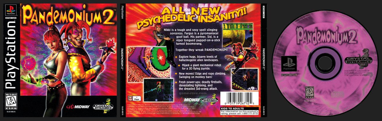 PSX PlayStation Pandemonium 2