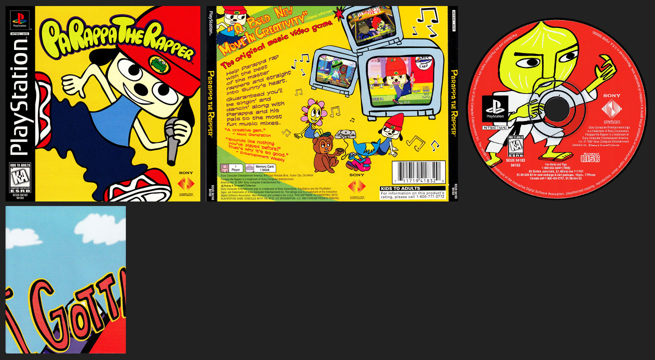 PSX PlayStation PaRappa The Rapper