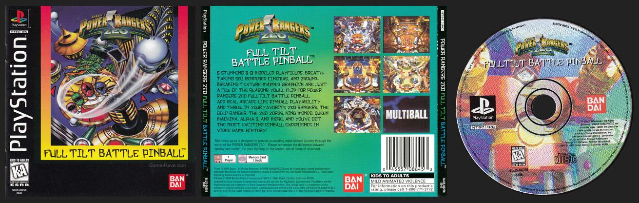 PSX PlayStation Power Rangers Zeo Full Tilt Battle Pinball