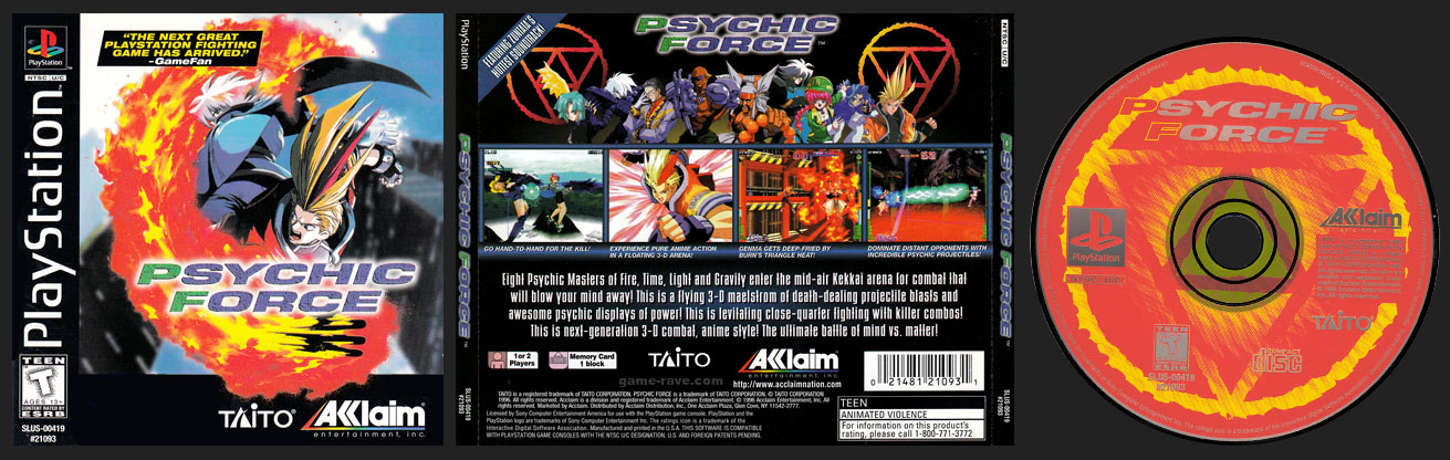 PSX PlayStation Psychic Force