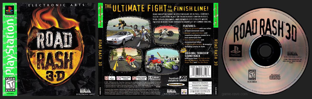 PSX PlayStation Road Rash 3D Greatest Hits