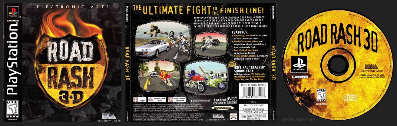PSX PlayStation Road Rash 3D