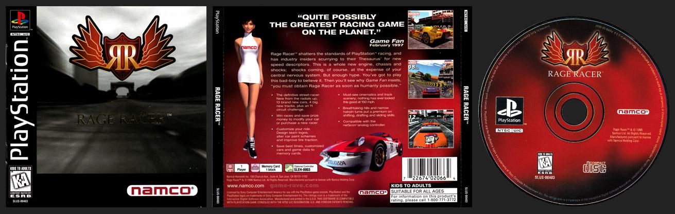 PSX PlayStation Rage Racer Black Label Retail Release