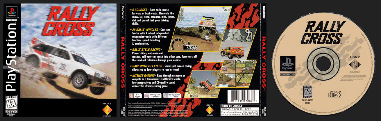 PSX PlayStation Rally Cross Black Label Retail Release