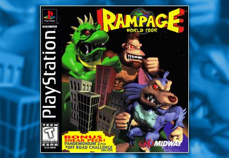 PSX PlayStation Rampage World Tour
