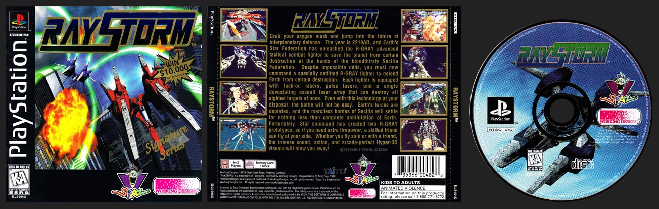 PSX PlayStation RayStorm Black Label Retail Release Blue Ship Variant