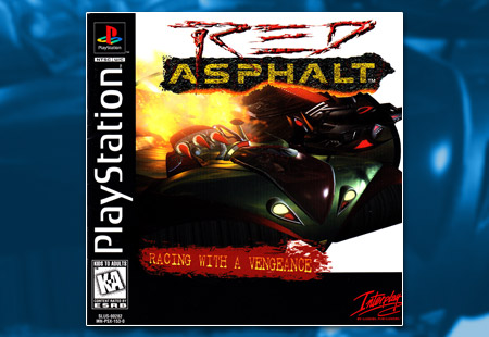 PSX PlayStation Red Asphalt