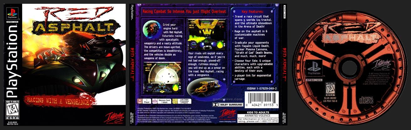 PSX PlayStation Red Asphalt