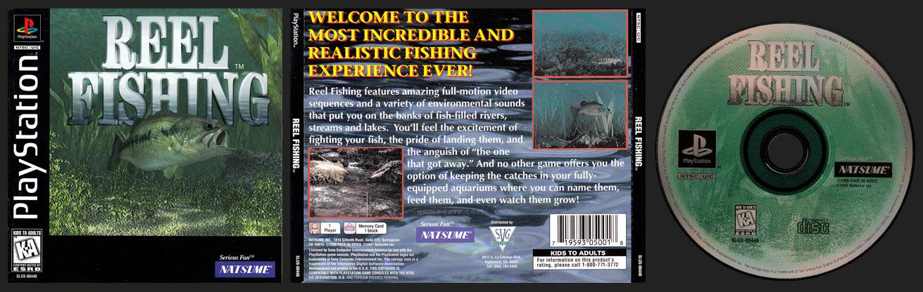 PSX PlayStation Reel Fishing Black Label retail release