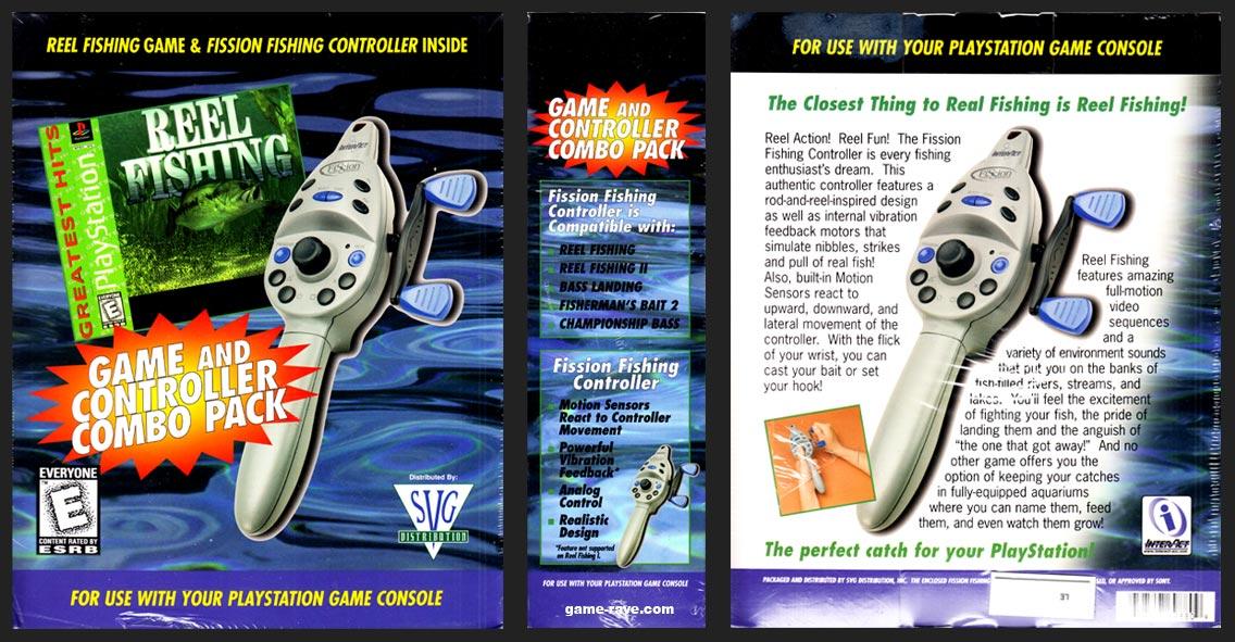 PSX PlayStation Reel Fishing Interact Fishing Controller Bundle