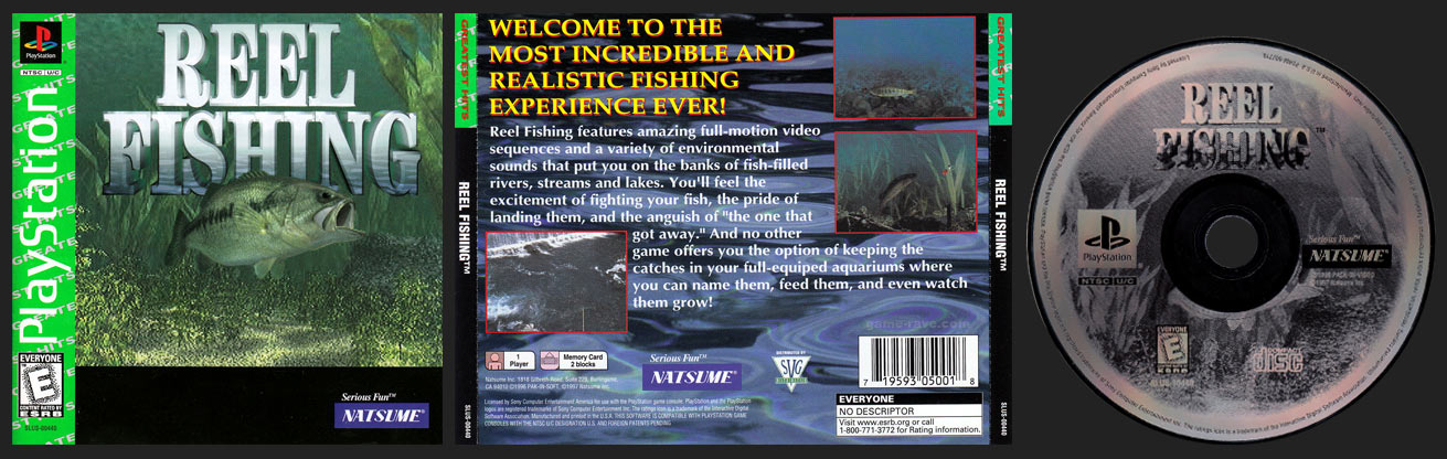 PSX PlayStation Reel Fishing Greatest Hits Release