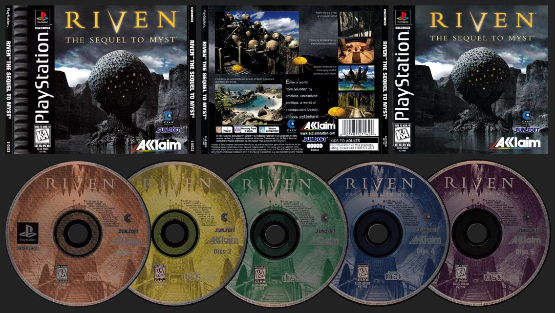 PSX PlayStation Riven: The Sequel to Myst