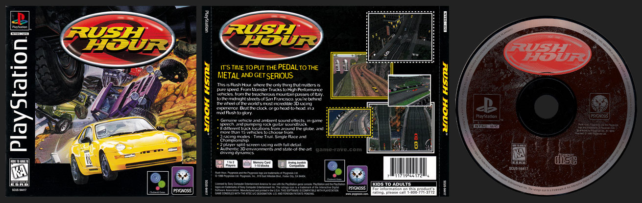 PSX PlayStation Rush Hour Black Label Retail Release
