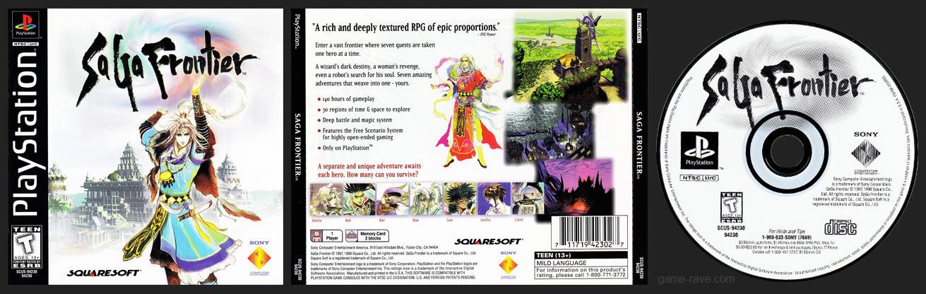 PSX PlayStation Saga Frontier