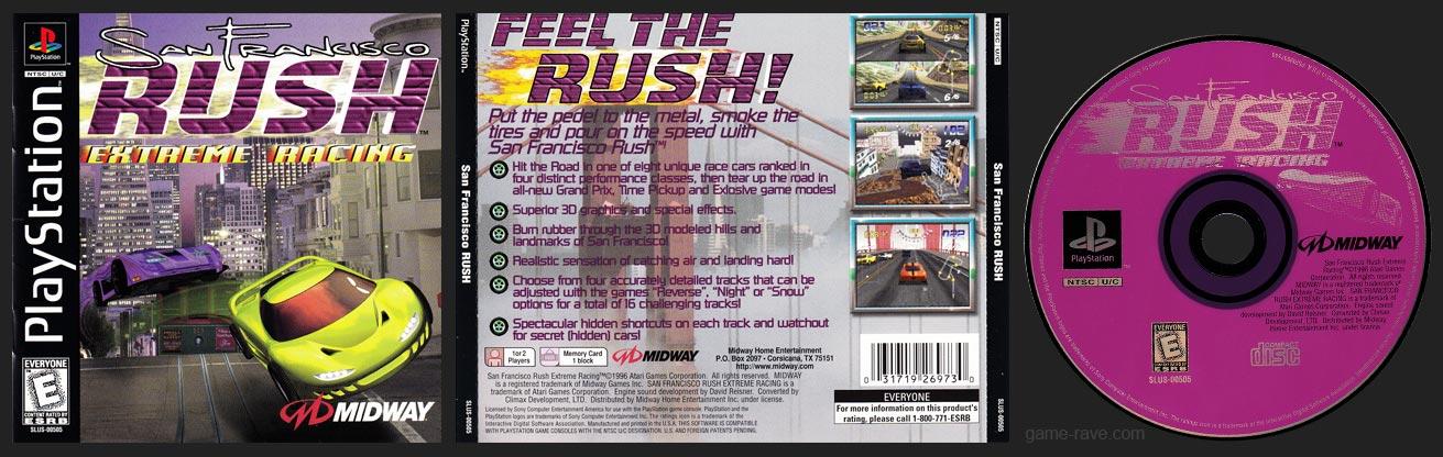 PSX PlayStation San Francisco RUSH: Extreme Racing