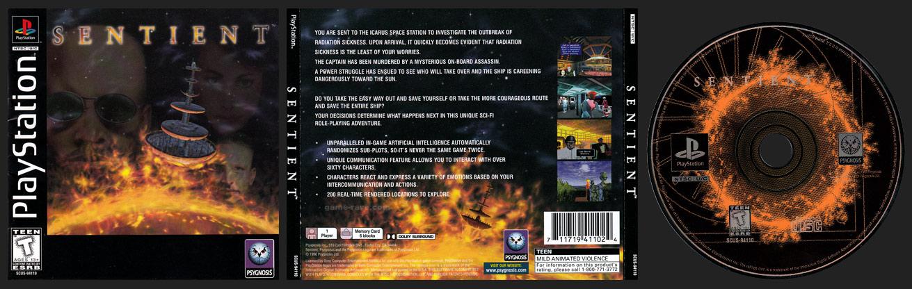 PSX PlayStation Sentient