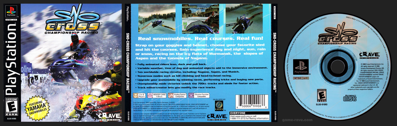 PSX PlayStation Sno-cross Championship Racing