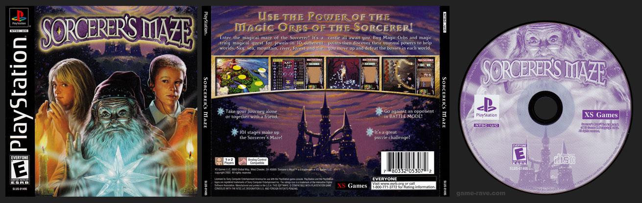 PSX PlayStation Sorcerer's Maze Black Label Retail Release