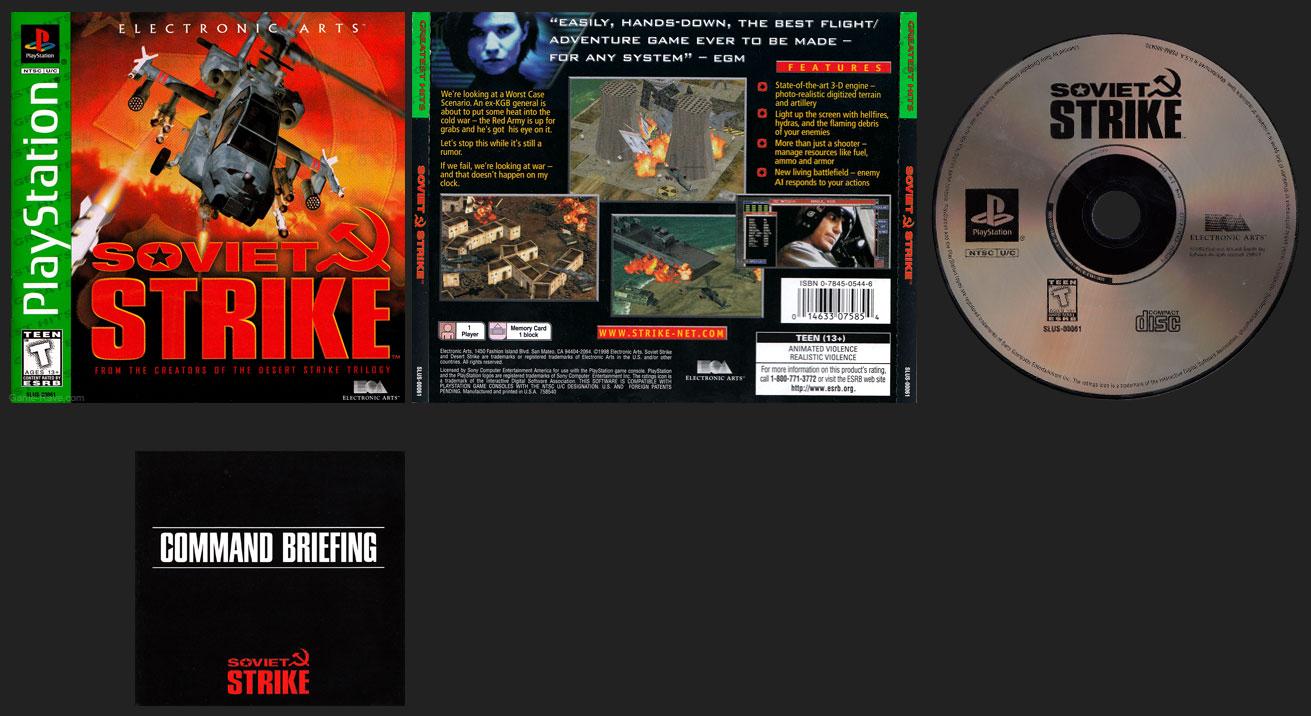 PSX PlayStation Soviet Strike Greatest Hits
