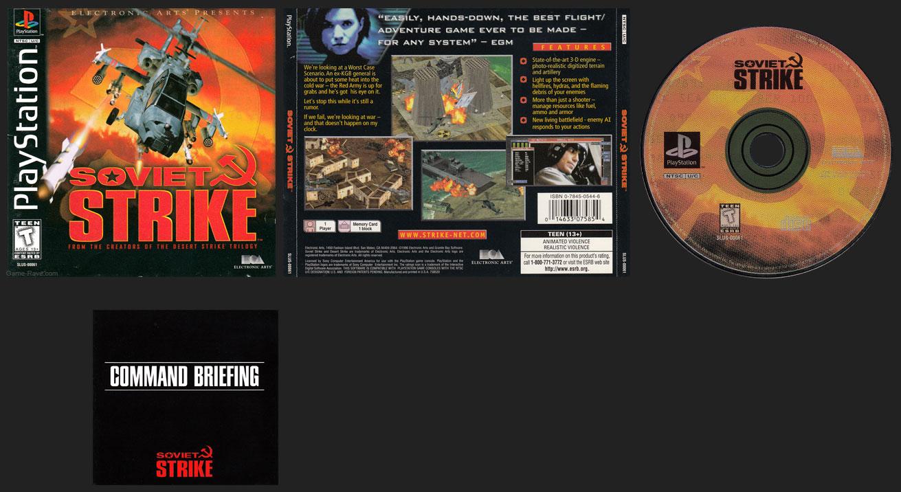 PSX PlayStation Soviet Strike Retail Release