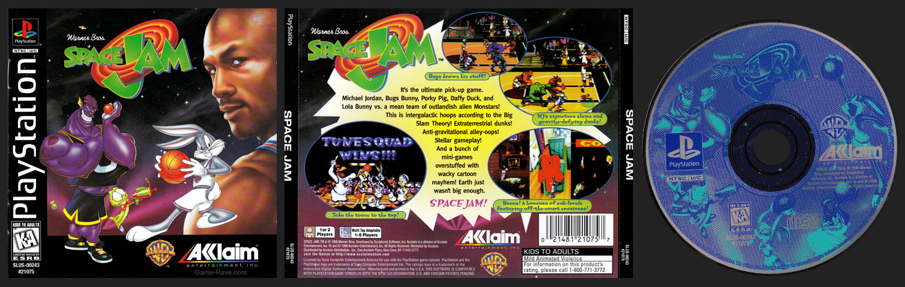 PSX PlayStation Space Jam