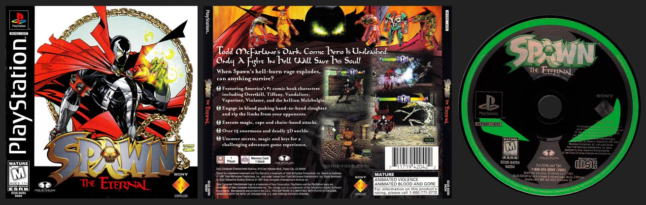 PSX PlayStation Spawn The Eternal Regular Edition