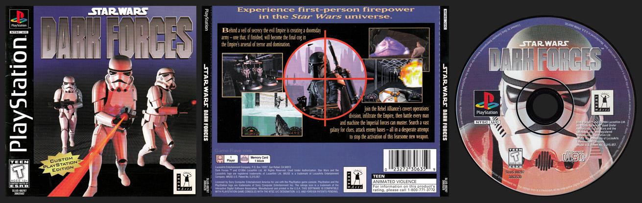 PSX PlayStation Star Wars: Dark Forces Black Label Retail Release