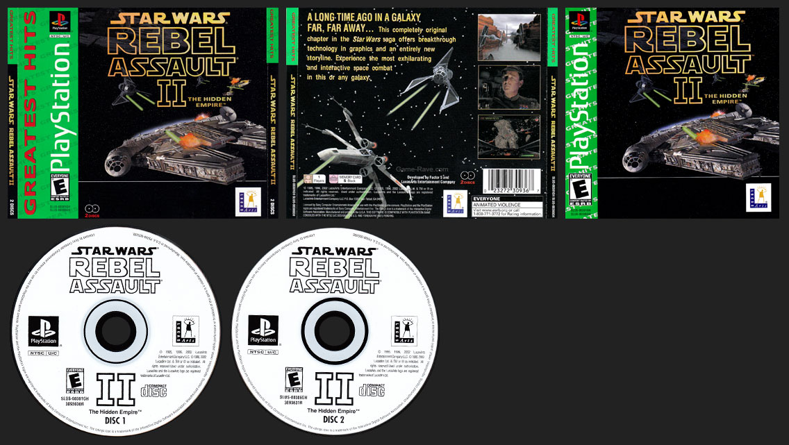 PSX PlayStation Star Wars: Rebel Assault II - The Hidden Empire