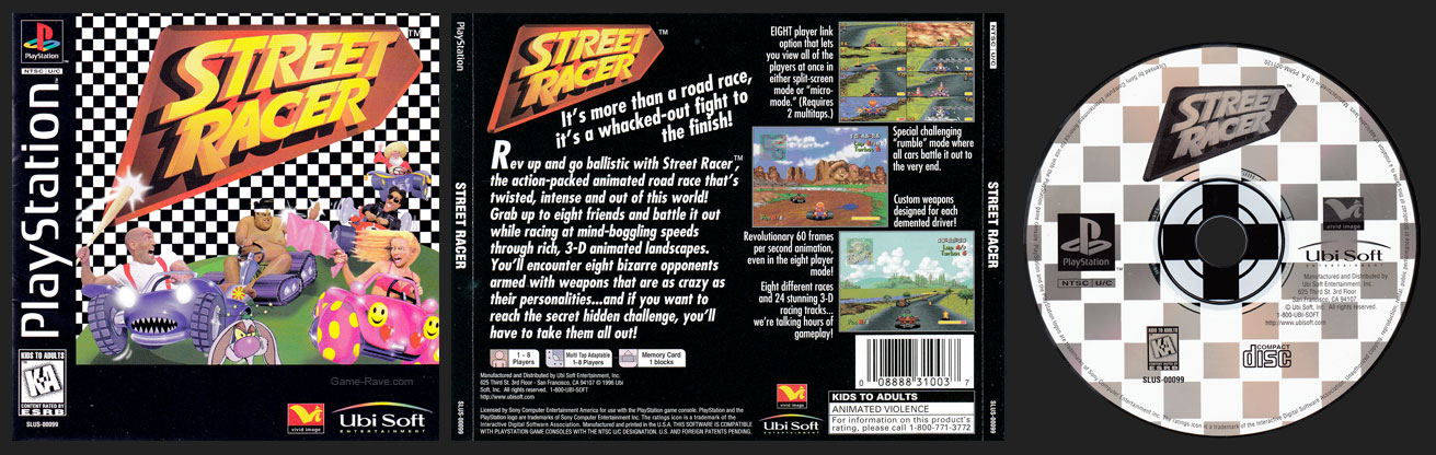 PSX PlayStation Street Racer Retail Release