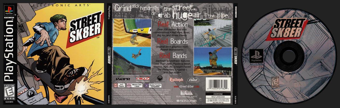PSX PlayStation Street Sk8er Shiny Release