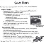 PSX PLayStation Surf Riders Quick Reference Card