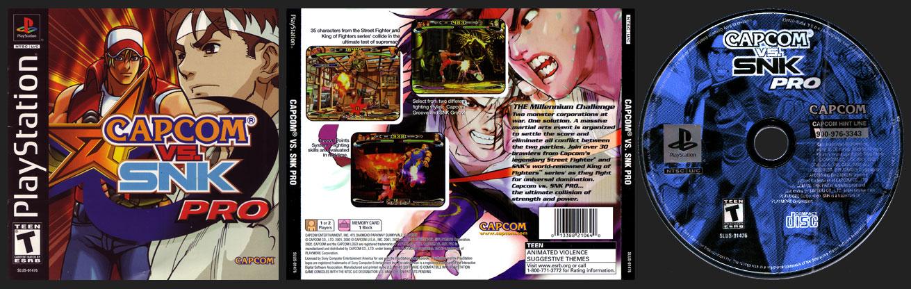 PSX PlayStation Capcom Vs. SNK Pro