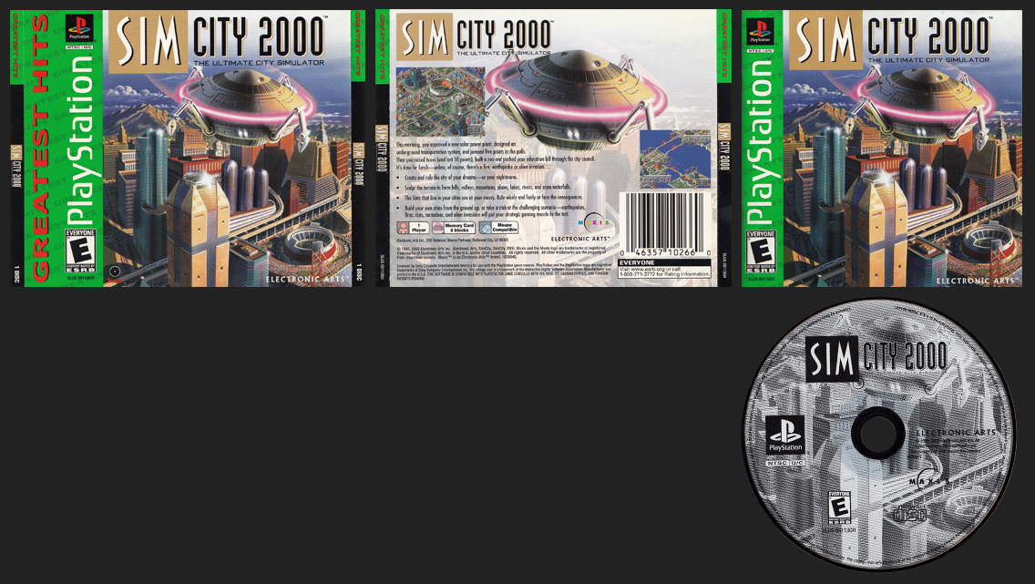 PSX PlayStation Sim City 2000