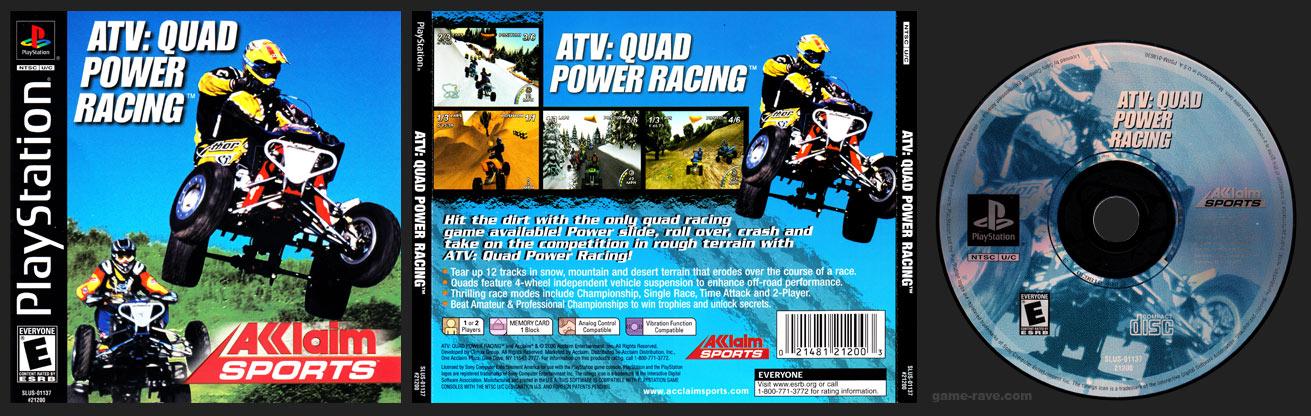PSX PlayStation ATV: Quad Power Racing
