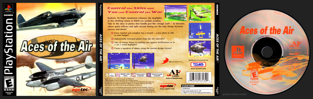 PSX PlayStation Aces of the Air