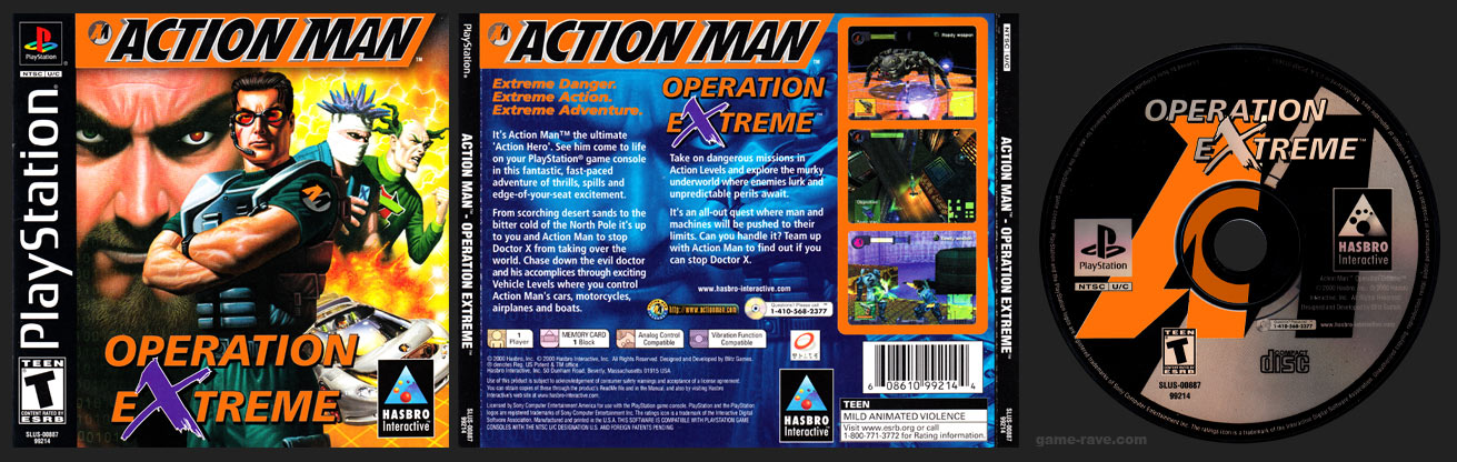 PSX PLayStation Action Man - Operation Extreme