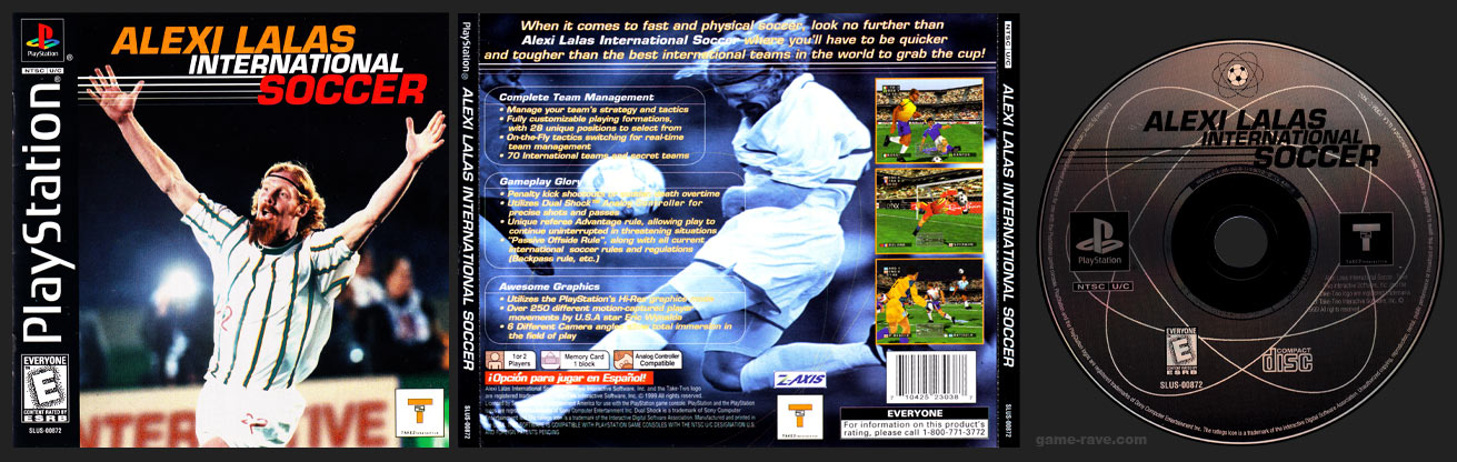 PSX PlayStation Alexi Lalas International Soccer