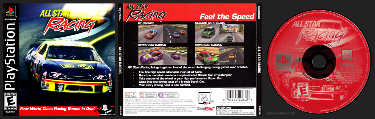 PSX PlayStation All Star Racing