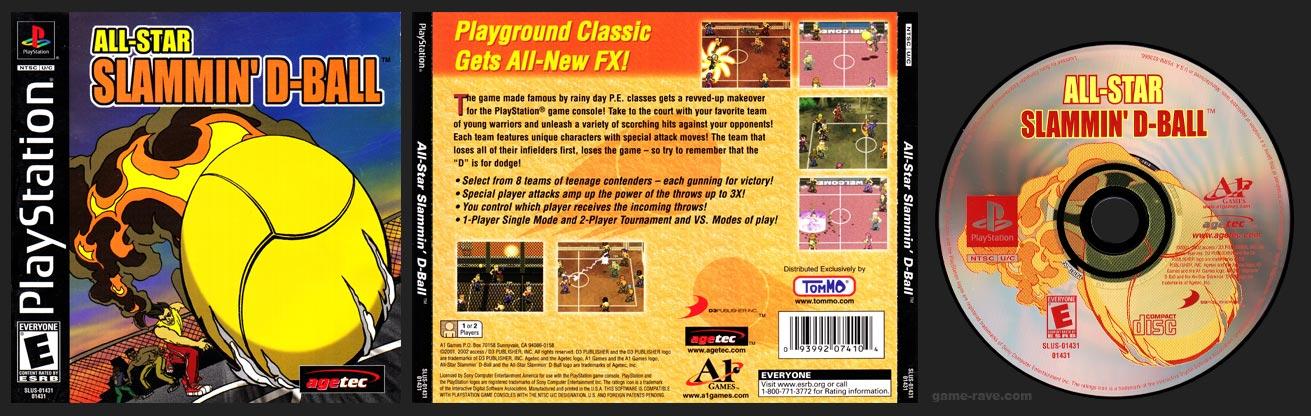 PSX PlayStation All-Star Slammin' D-Ball