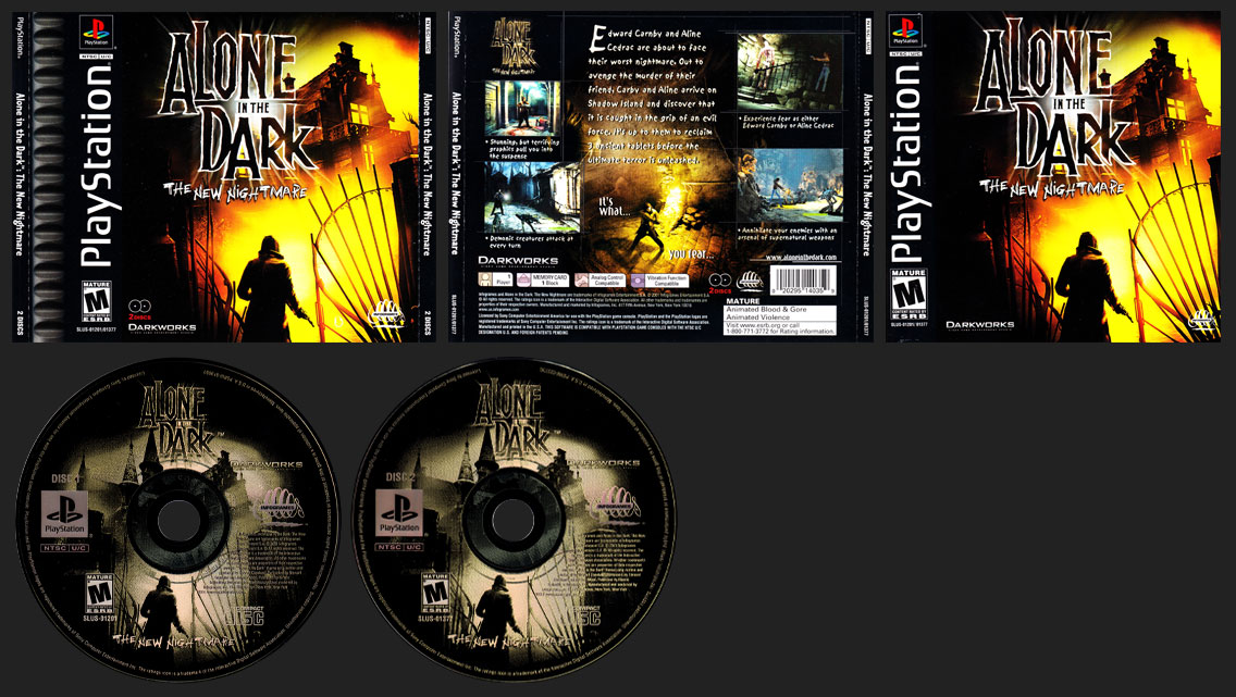 PSX PlayStation Alone in the Dark: The New Nightmare