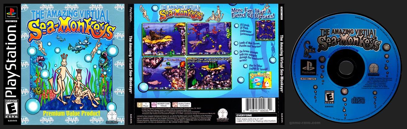 PSX PlayStation Amazing Virtual Sea-Monkeys
