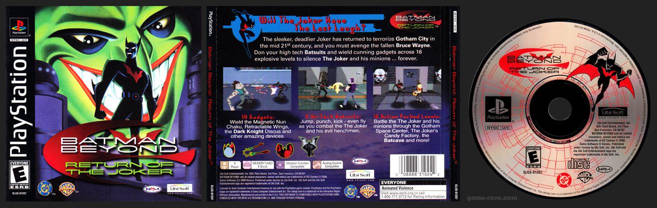 PSX PlayStation Batman Beyond: Return of the Joker Black Label Retail Release