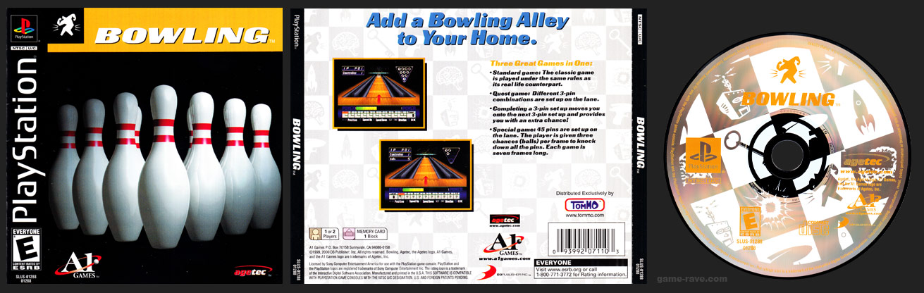 PSX PlayStation Bowling