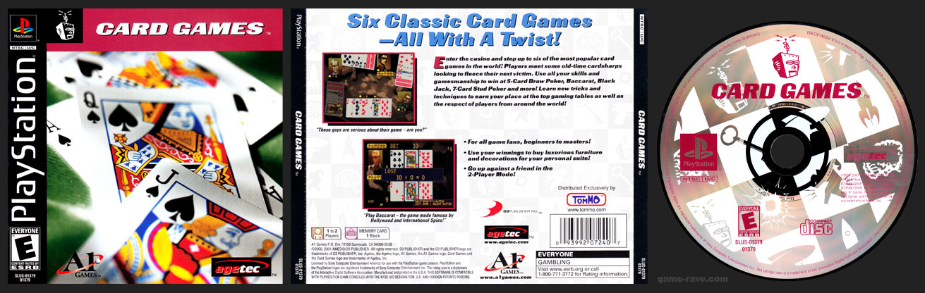 PSX PlayStation Card Games