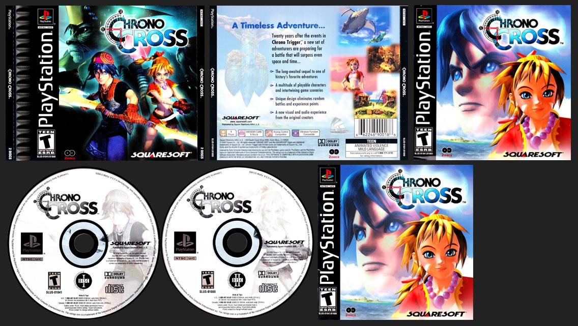 PSX PlayStation Chrono Cross Canadian Release