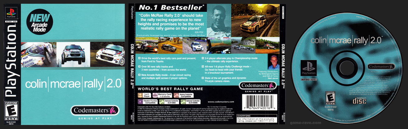 PSX PlayStation Colin McRae Rally 2.0