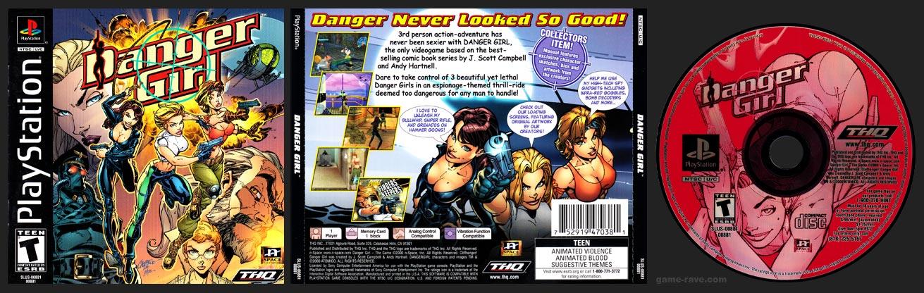PSX PlayStation Danger Girl