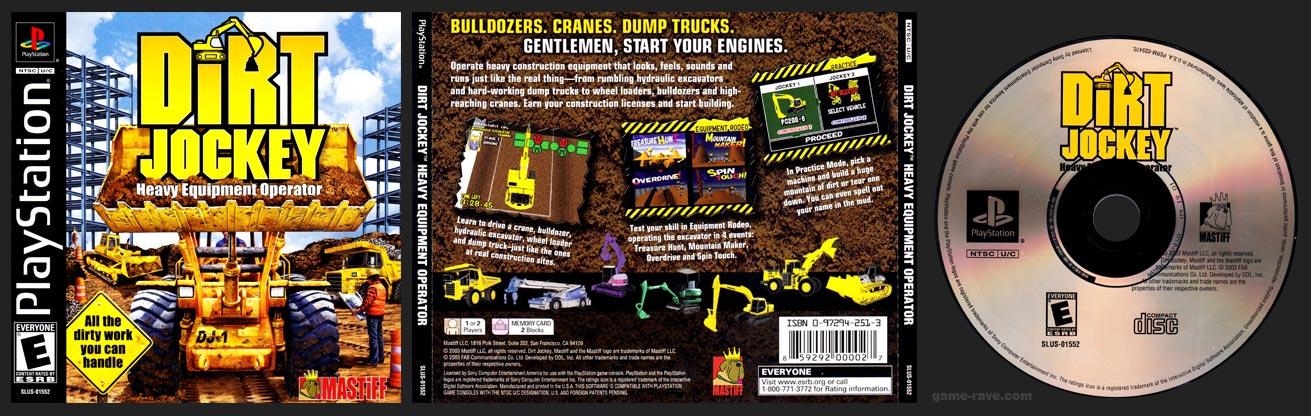 PSX PlayStation Dirt Jockey - Heavy Equipment Operator