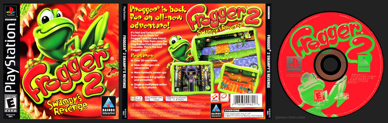 PSX PlayStation Frogger 2 Swampy's Revenge